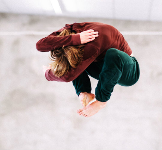 Swiss dancer Edouard Hue presents his self-choreographed 'FORWARD' at the Swiss Cultural Center.