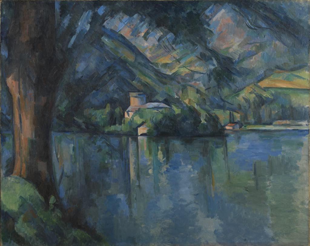 """Lac d'Annecy"" (1896), by Paul Cézanne. The Courtauld Gallery, London (Samuel Courtauld Trust)"