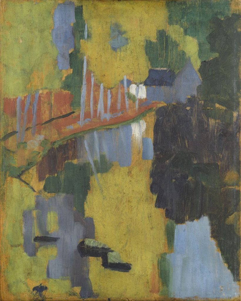 """Le Talisman,"" or ""Paysage au Bois d'Amour"" (1888), by Paul Sérusier."