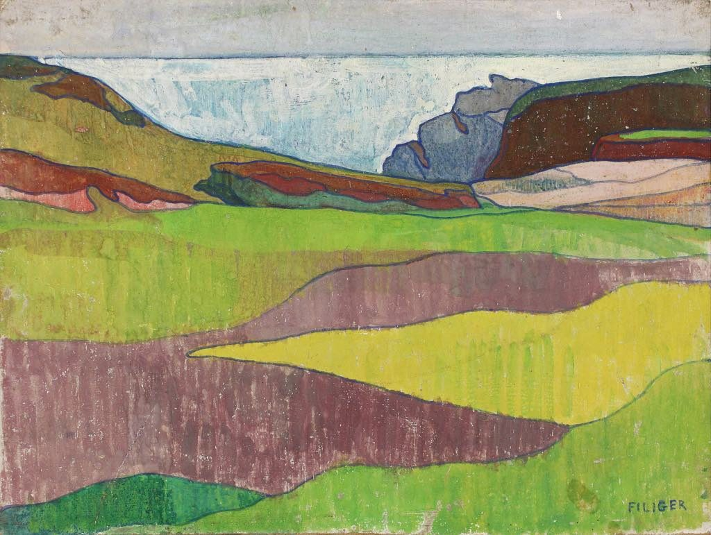 """""""Paysage Rocheux"""" (c. 1891), by Charles Filiger."""