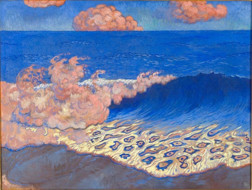 """""""Marine Bleue, Effet de Vagues"""" (c. 1893), by Georges Lacombe."""