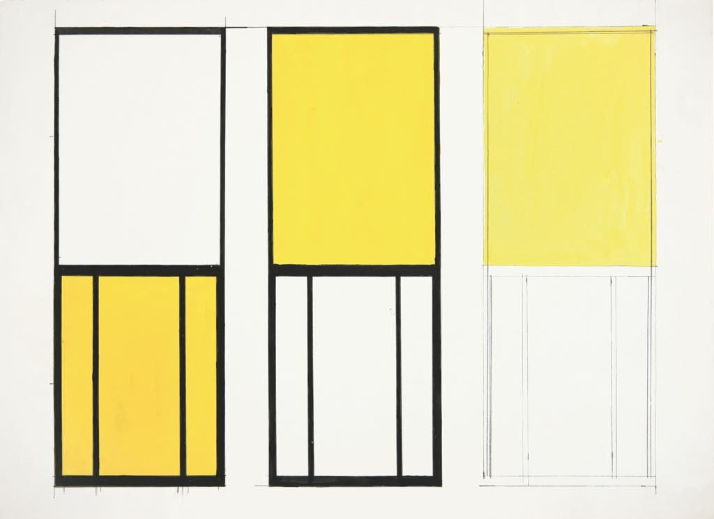 """Studies for Window, Museum of Modern Art, Paris"" (small version, 1949). © Ellsworth Kelly Foundation. Photo: courtesy Ellsworth Kelly Studio"