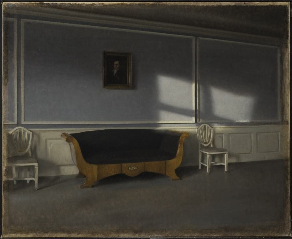 "Hammershøi ""Ray of Sun in the Living Room, III"" (1903). Photo: Erik Cornelius/Nationalmuseum"