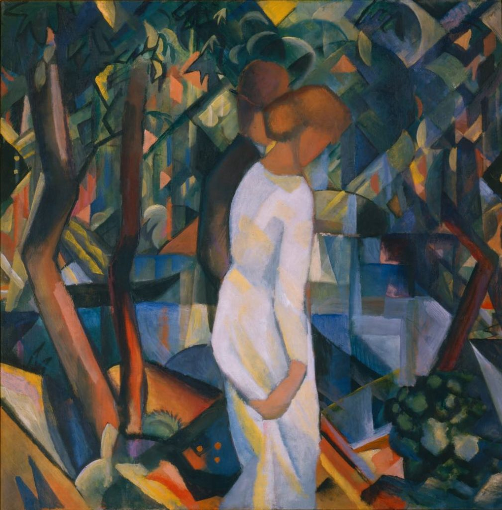 """Couple dans la Forêt (1912), by August Macke. © Maurice Aeschimann"