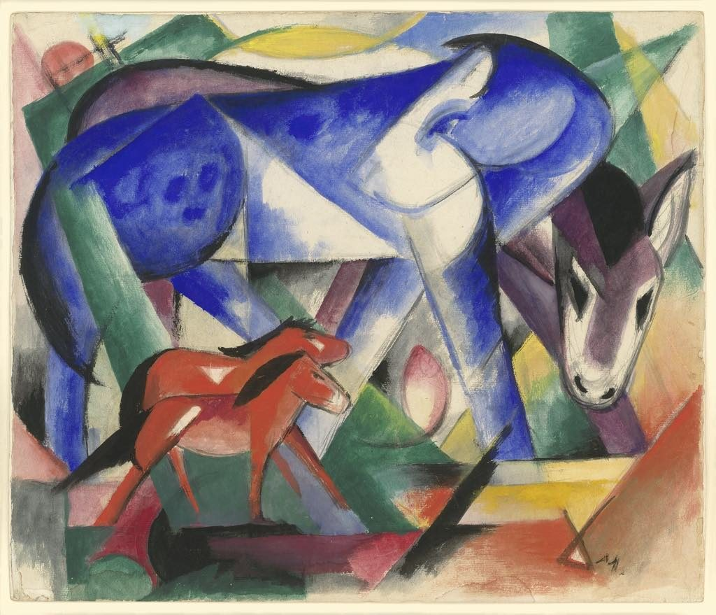 """The First Animals"" (1913), by Franz Marc. © Neue Galerie, New York"