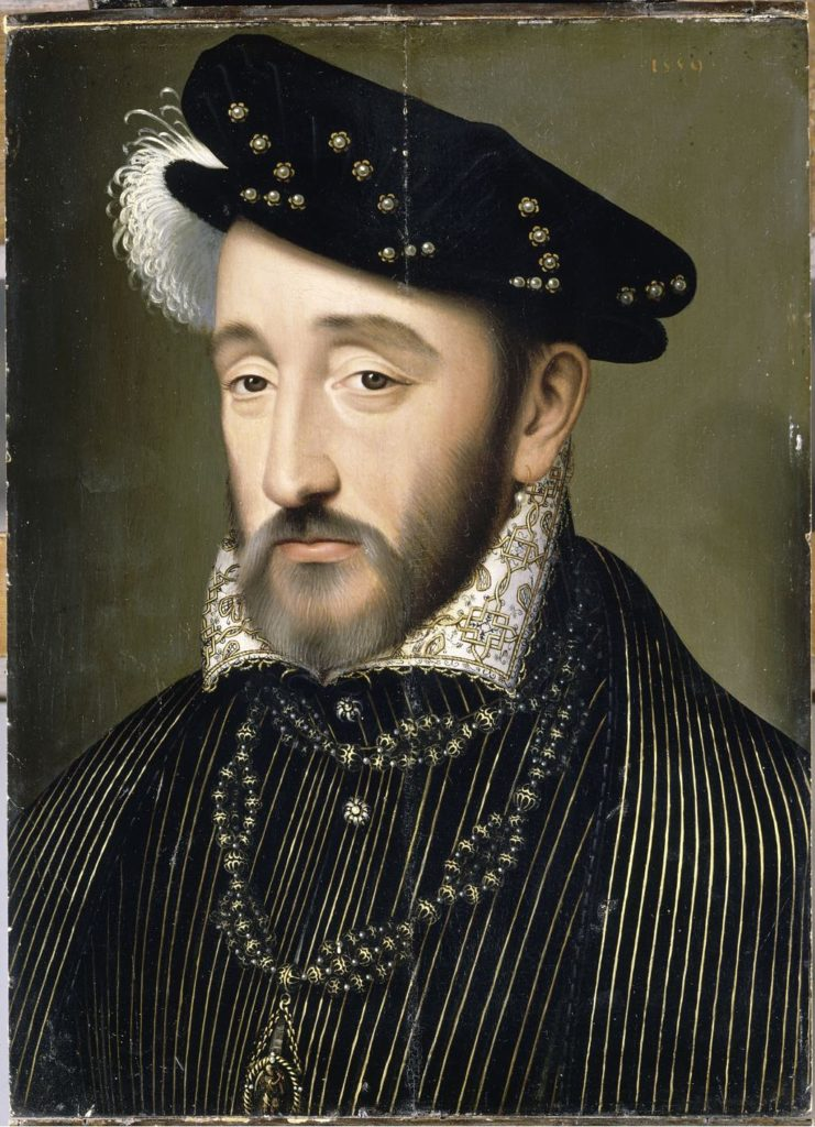 """Henri II, King of France in 1547."" (1519-59), workshop of François Clouet. © Photo RMN-Grand Palais (Château de Versailles)/Gérard Blot"