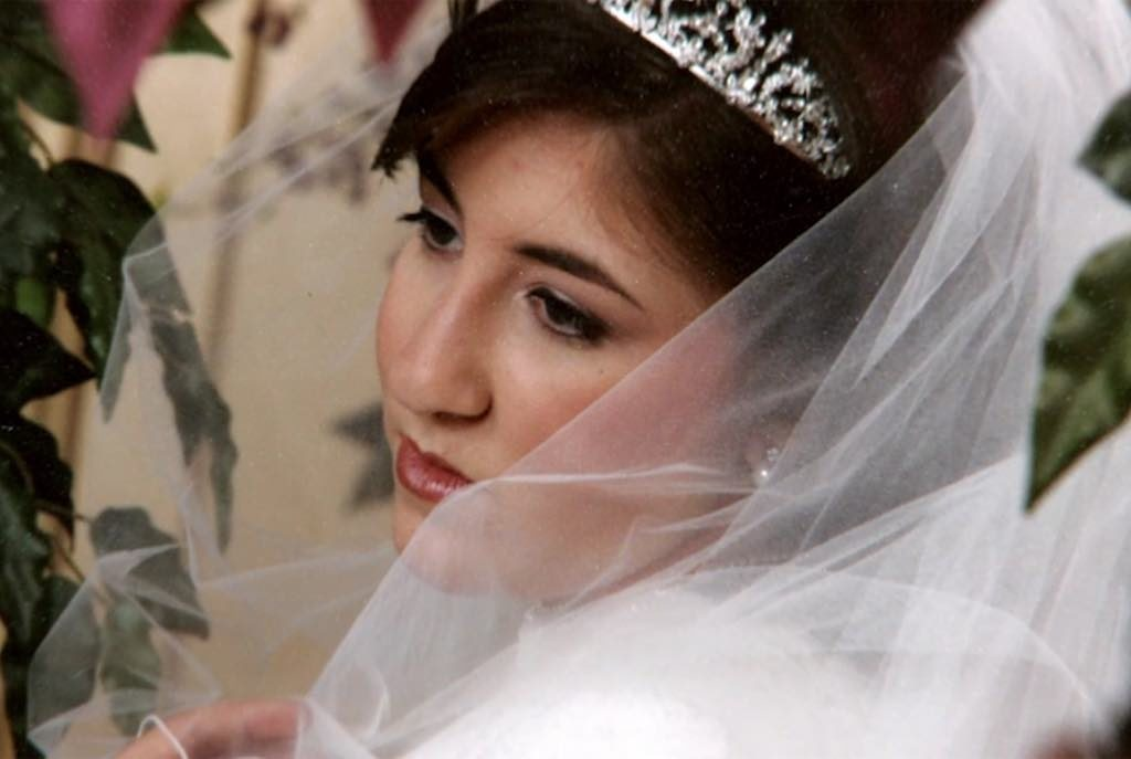 Deborah Feldman's wedding picture from her arranged marriage.