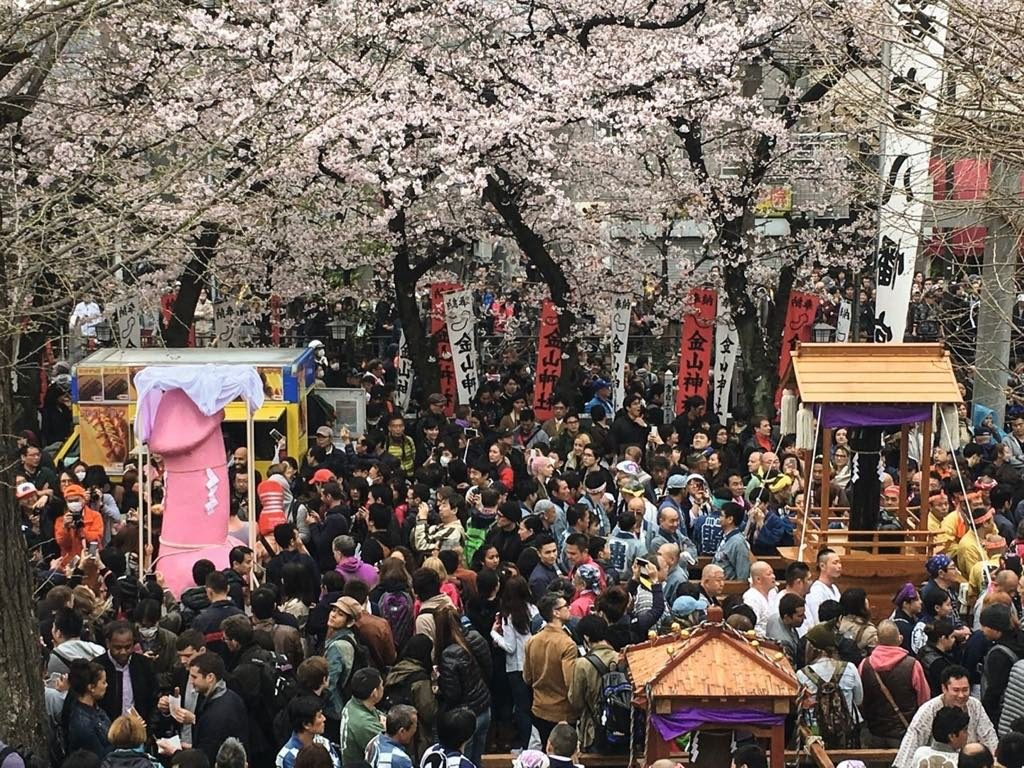 The annual penis-venerating festival at the Kanamara shrine in Japan.