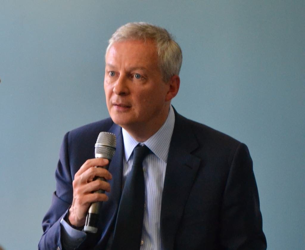 French Minister of the Economy and Finance Bruno Le Maire, speaking to the American Chamber of Commerce on April 30, 2019.