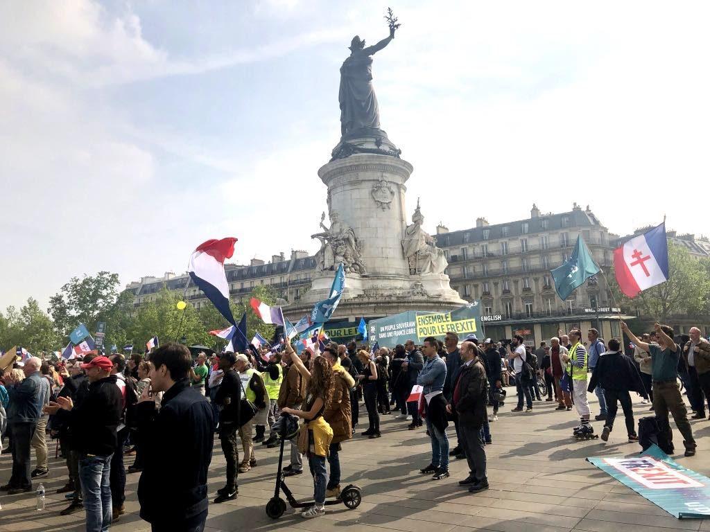 May Day demonstrators in Paris.