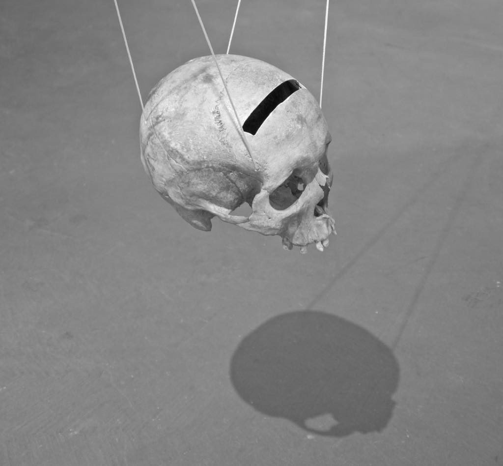 """Psychopompos Skull"" (2017), by Erik Nussbicker. © Erik Nussbicker"
