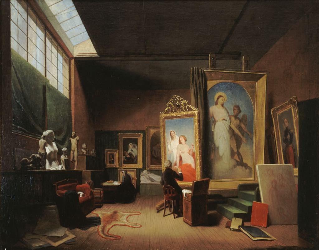 """""""Atelier de l'Artiste Ary Scheffer, Rue Chaptal"""" (1851), by Arie Johannes Lamme. Photo: Musée de la Vie Romantique/Roger-Viollet"""