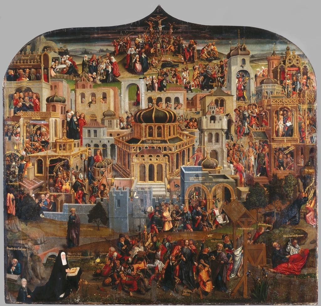 """Panorama of Jerusalem"" (c. 1517). Flemish School. Chambord"