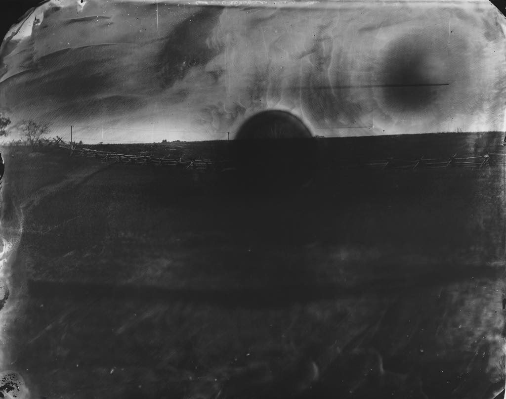 """Battlefield, Antietam (Black Sun)"" (2001). © Sally Mann"