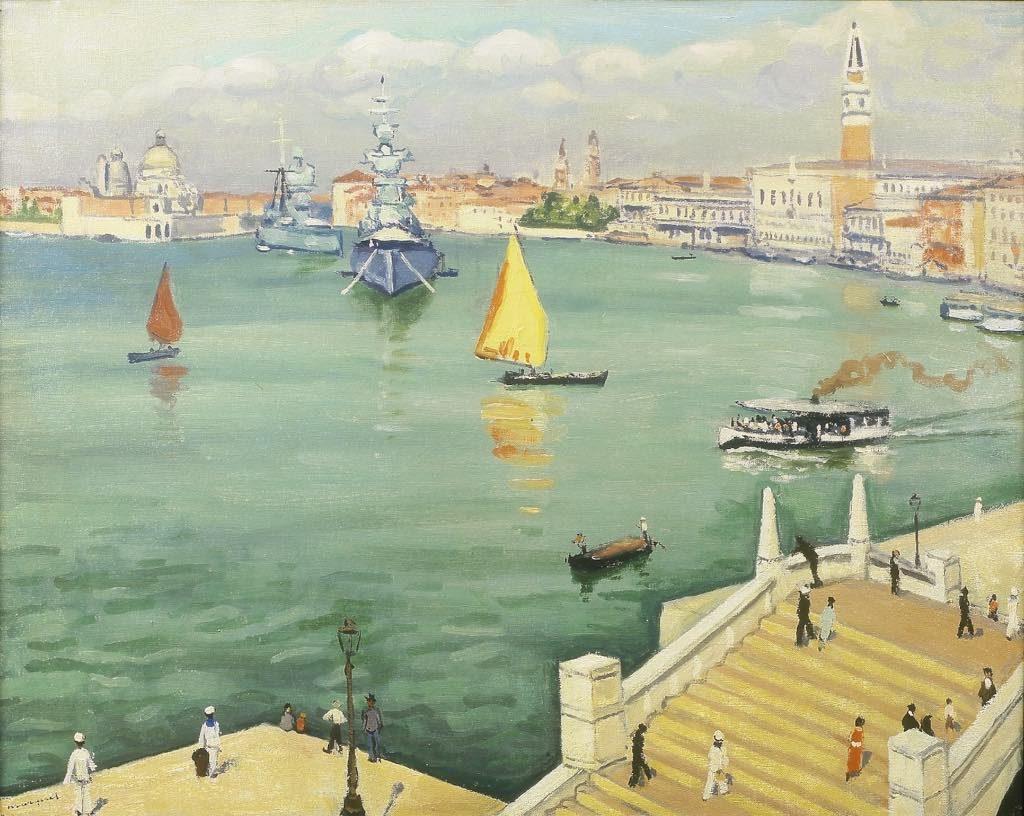 """Marquet. """"Battleships, Venice"""" (1936)."""