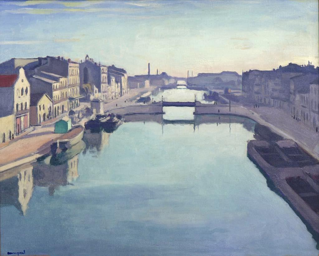 """""""Sète, Le Canal de Beaucaire"""" (1924)."""