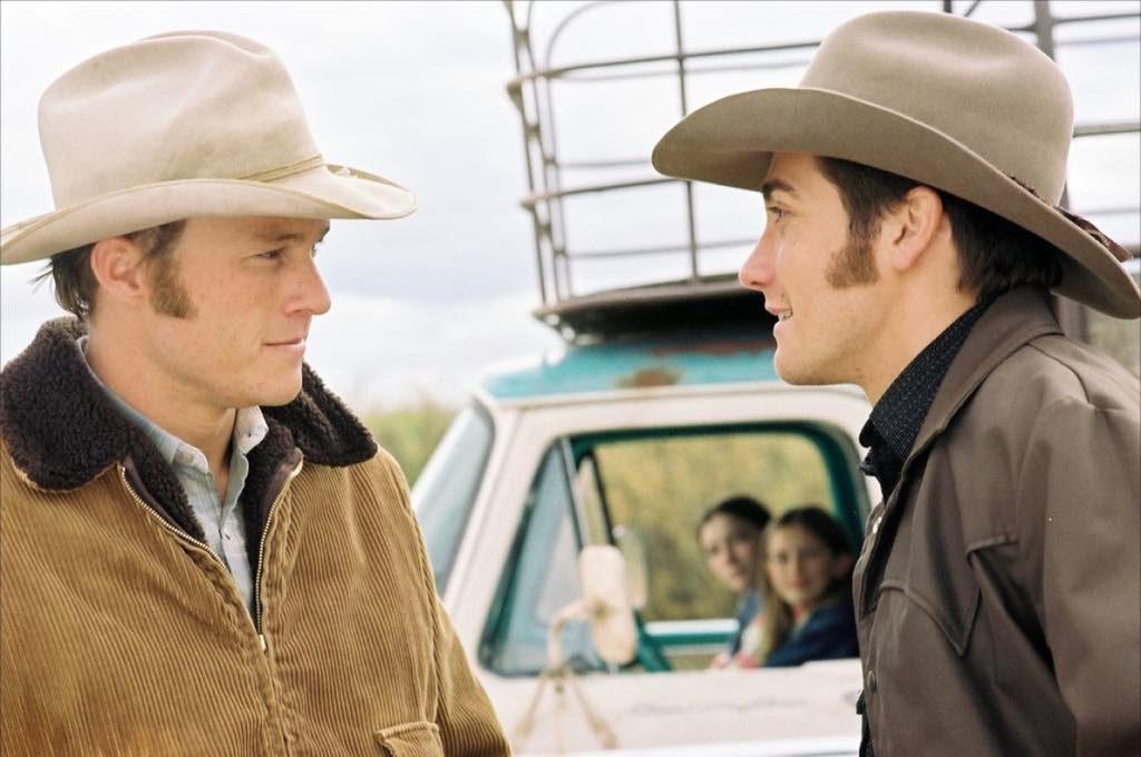Ennis (Heath Ledger) and Jack (Jake Gyllenhaal) in Brokeback Mountain, directed by Ang Lee.