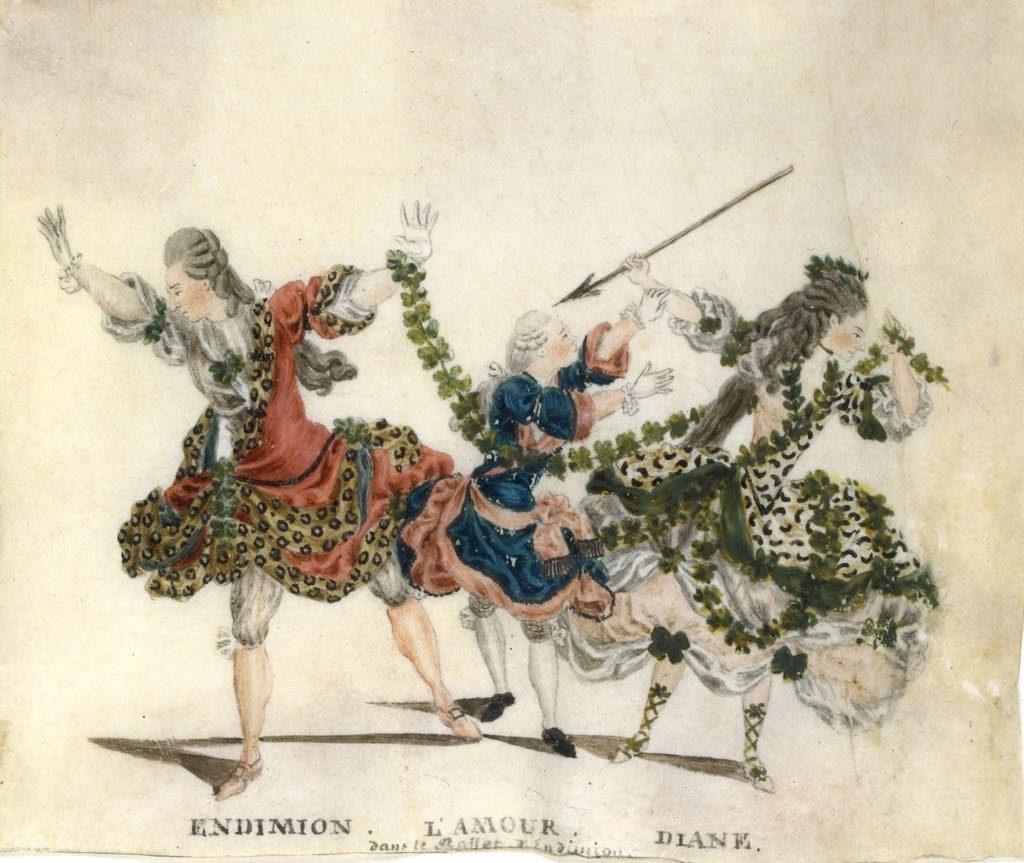 """""""Endymion"""" (1773-78),Jean-Louis Fesch. BnF, Musique, Bibliothèque-Musée de l'Opéra"""