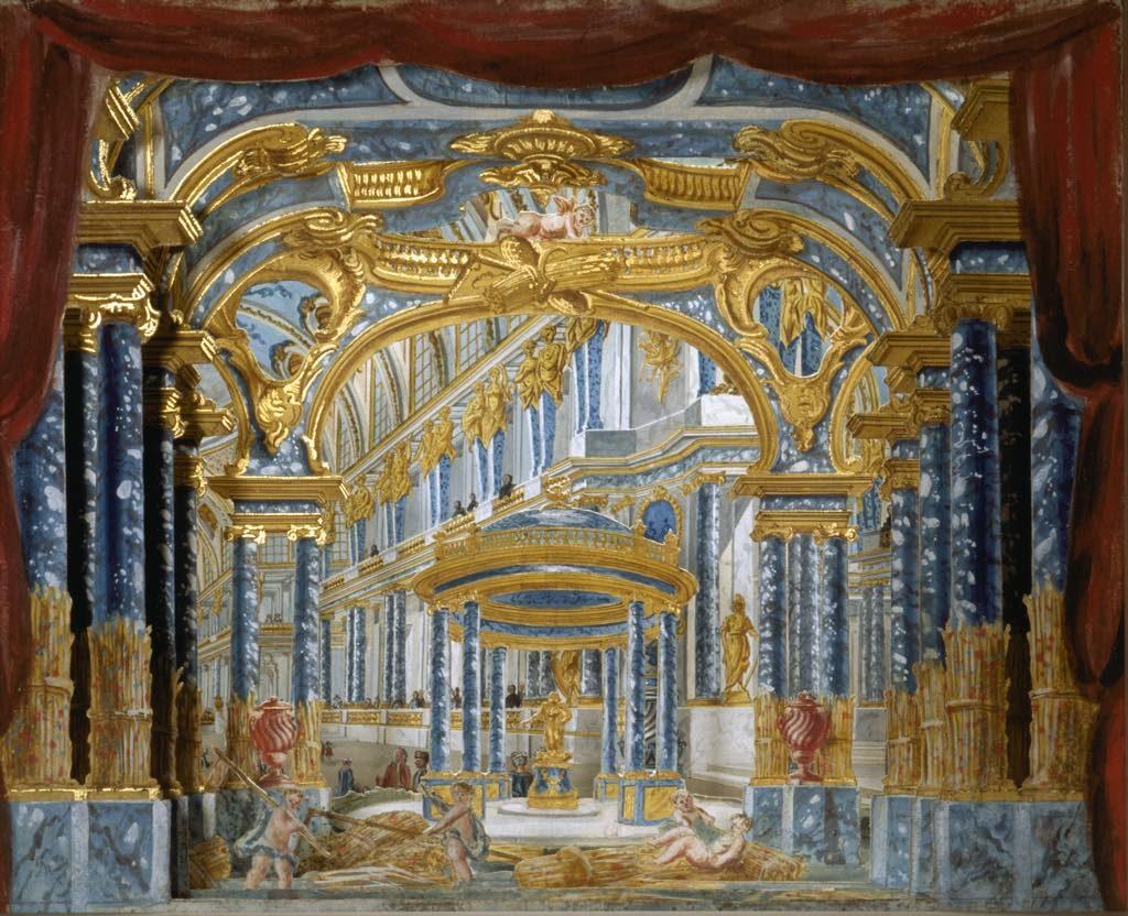 Model for the set of Act I of Lully's Proserpine (1758), Piero Bonifazio Algieri, Palais de Cérès. © Pascal Lemaître/ Centre des Monuments Nationaux