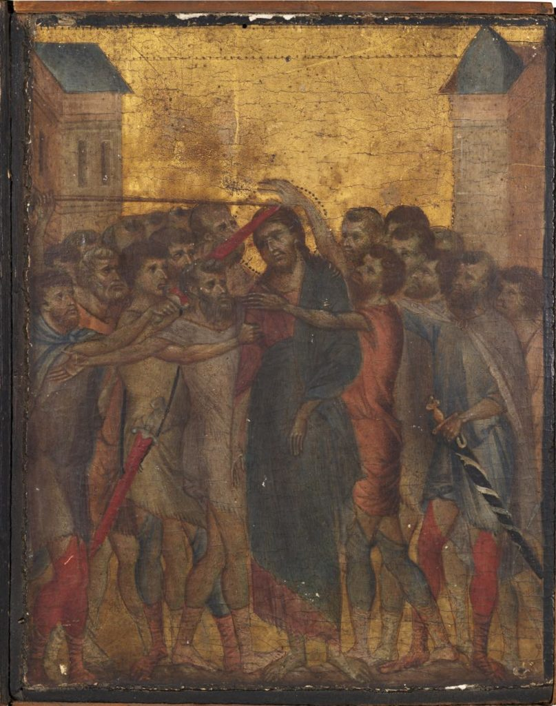"""The Mocking of Christ"" (1280) by Cimabue."