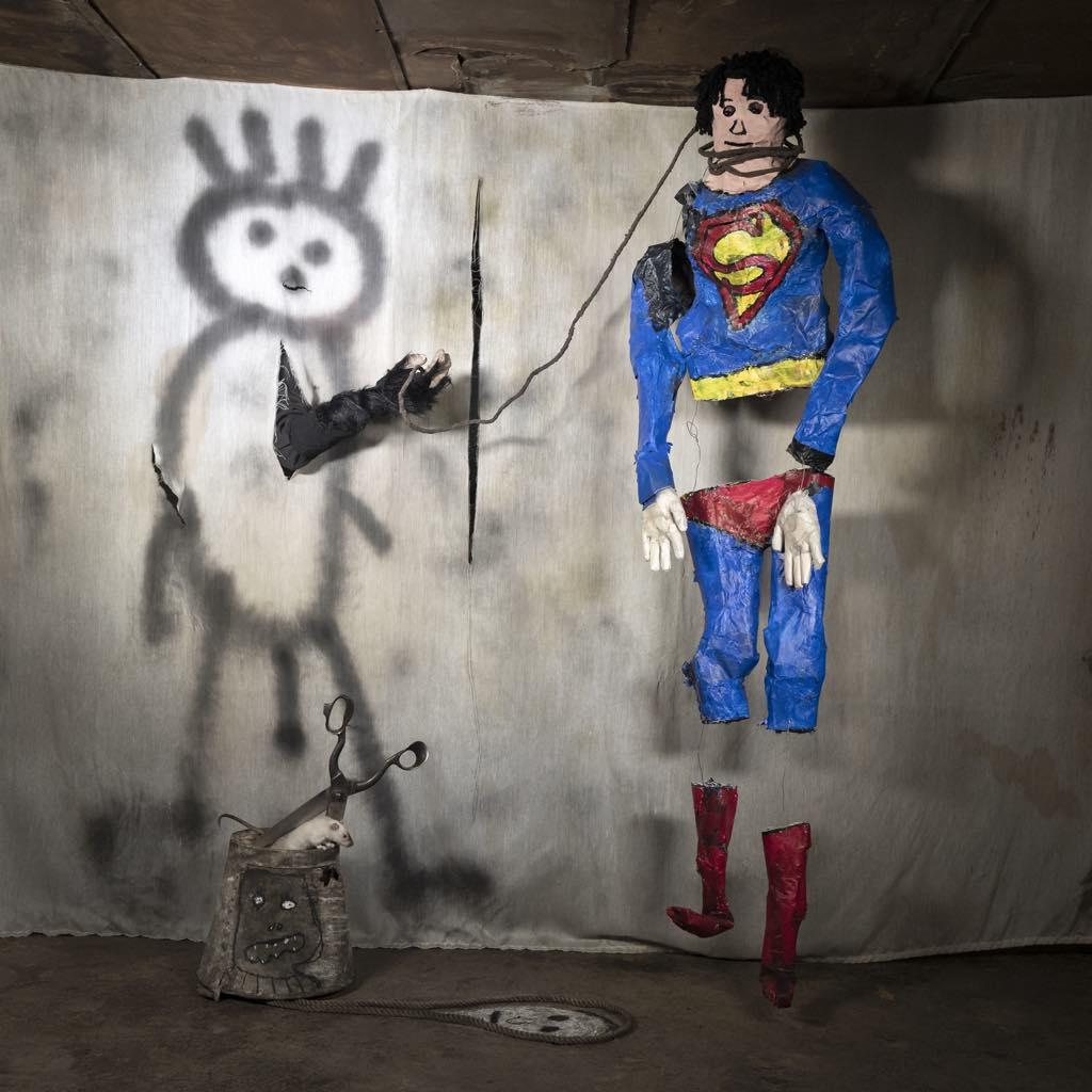 """Superman"" (2018). © Roger Ballen"