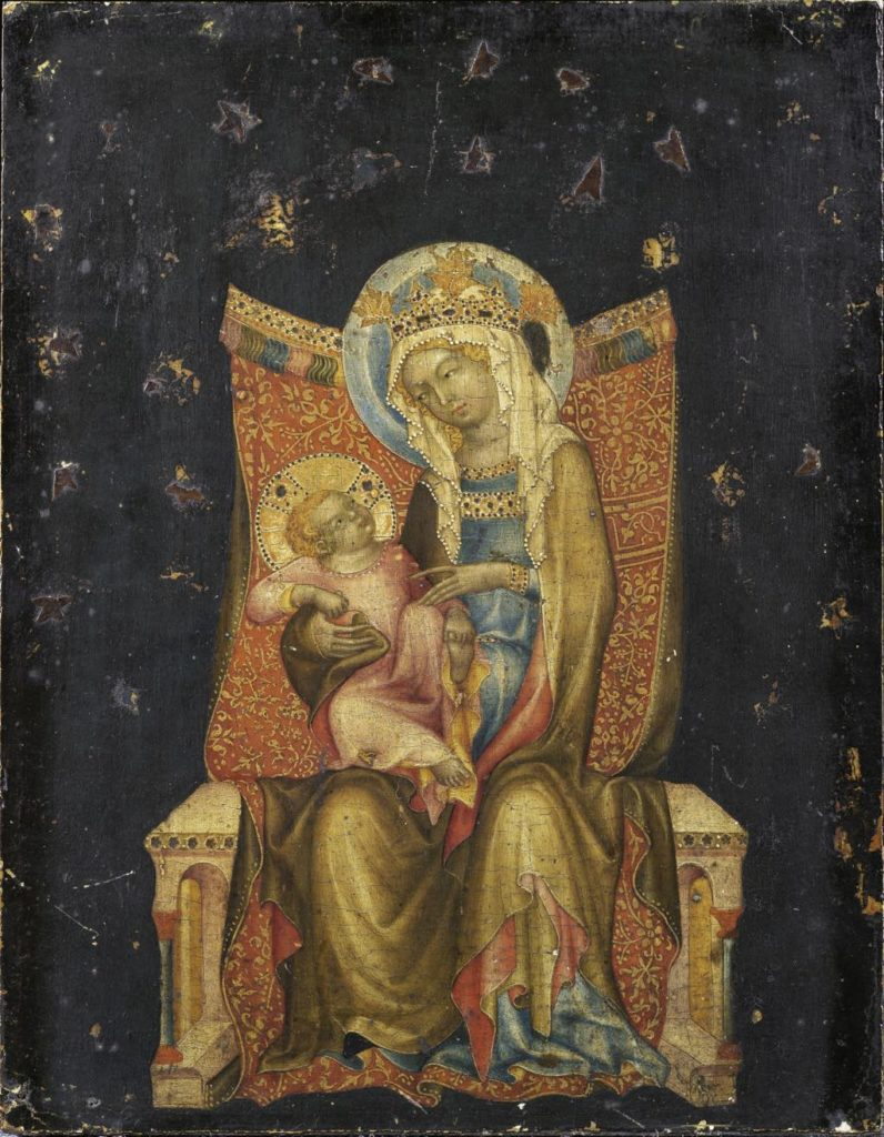 """Virgin and Child Enthroned"" (1350) by the Master of Vyšší Brod."