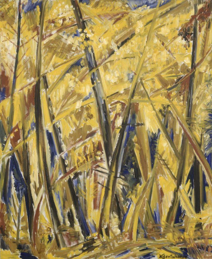"""""""Forêt d'Automne"""" (1950), by Natalia Gontcharova. © ADAGP, Paris 2019 Photo © Centre Pompidou, MNAMCCI, Dist. RMN-Grand Palais/Philippe Migeat. Service de Presse Musée Zadkine"""