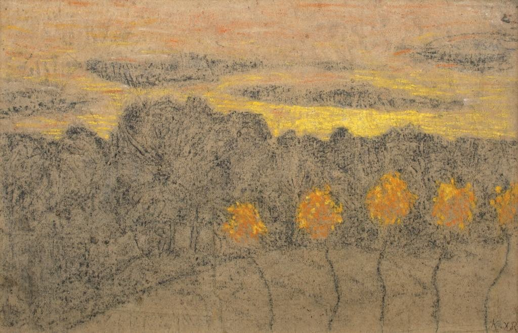 """Paysage qux Arbres Jaunes"" (1893-95). Private collection. All rights reserved. Photo: Anne-Claude Barbier"