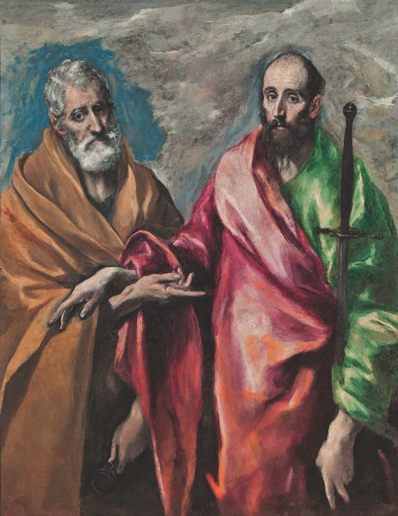 """Saint Peter and Saint Paul"" (1600-05). Barcelone, Museu Nacional d'Art de Catalunya. Photo © Fine Art Images/Bridgeman Images"