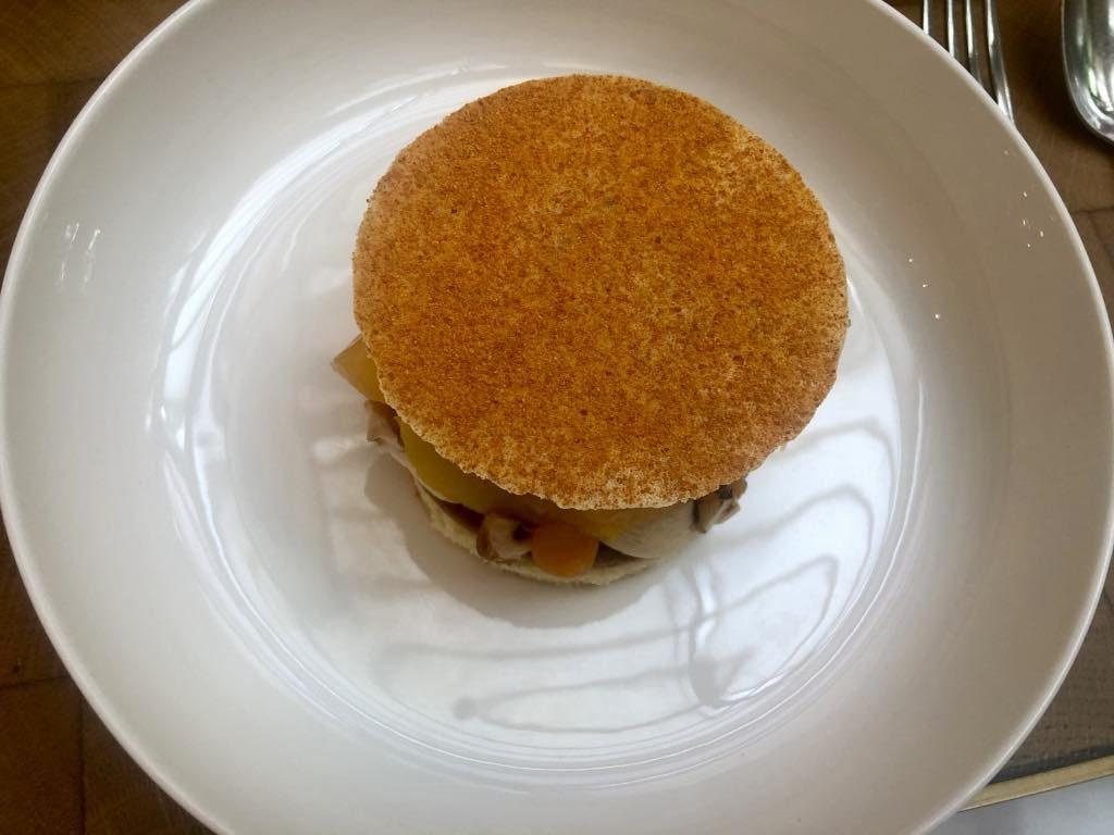 Mandarin-orange and squash dessert.