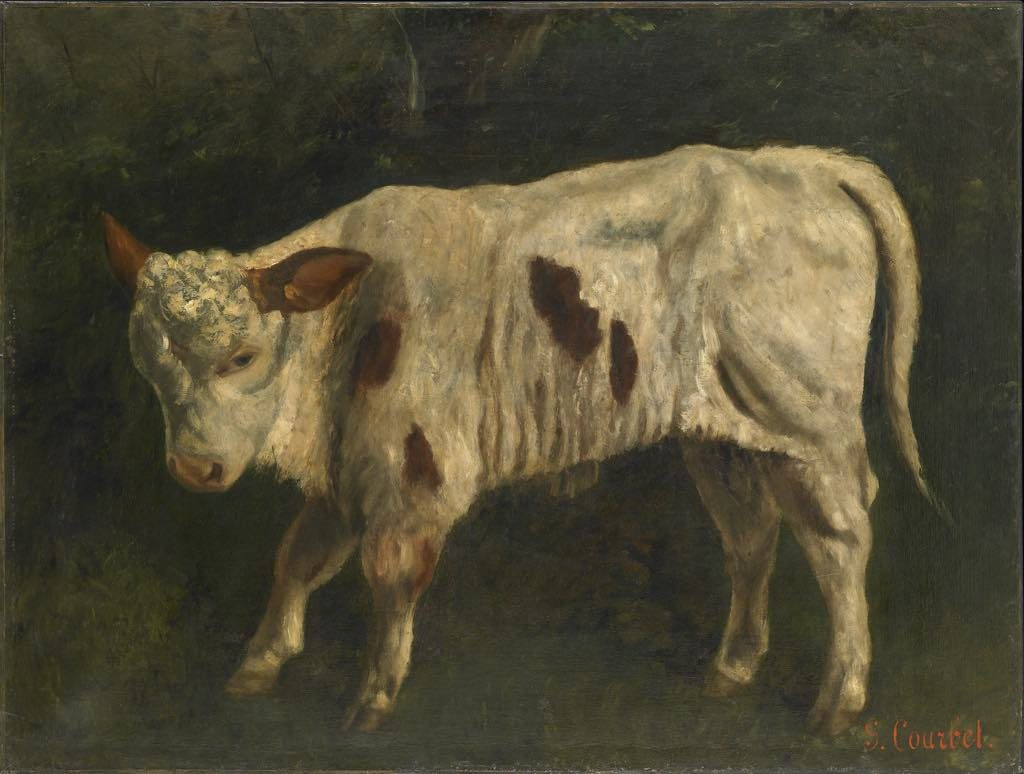 """Le Veau"" (1872-73), by Gustave Courbet. © Ornans, Musée Gustave Courbet. Photo: Pierre Guenat"