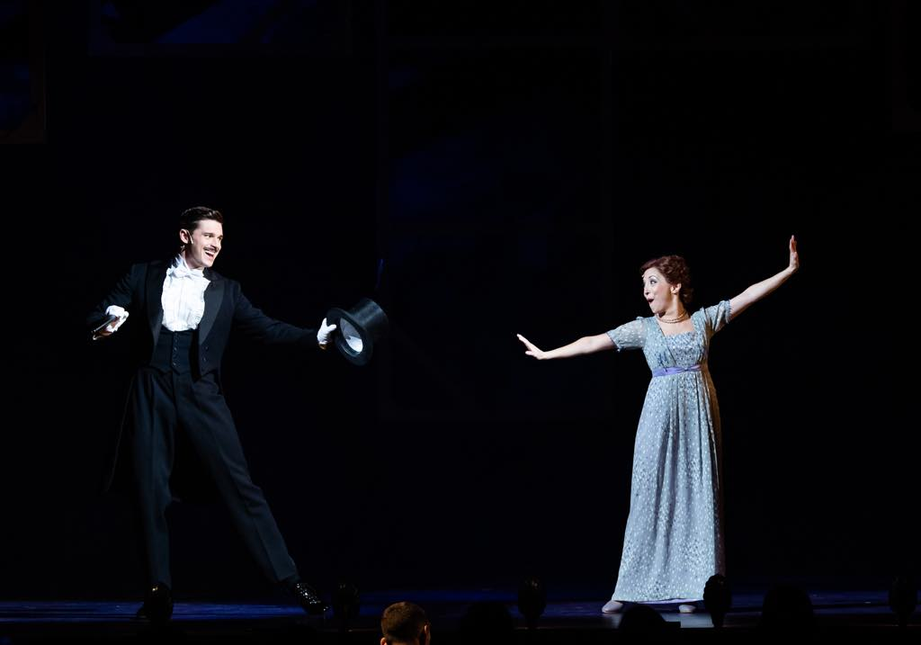Ashley Day as Nick Arnstein and Christina Bianco as Fanny Brice. Photo: Julien Benhamou