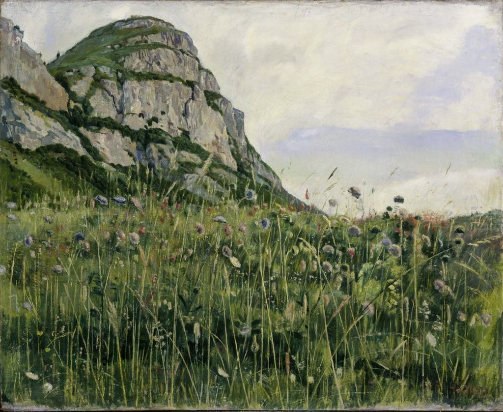 """Frühlingswiese am Salève"" (1888), by Ferdinand Hodler. © SIK-ISEA, Zürich"