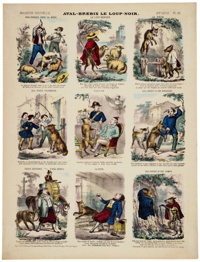 """""""Aval-Brebis le Loup-Noir"""" (between 1849 and 1881), Élie Haguenthal, Pont-à-Mousson © Musée de l'Image-Ville d'Épinal. Photo: Essy Erfani"""