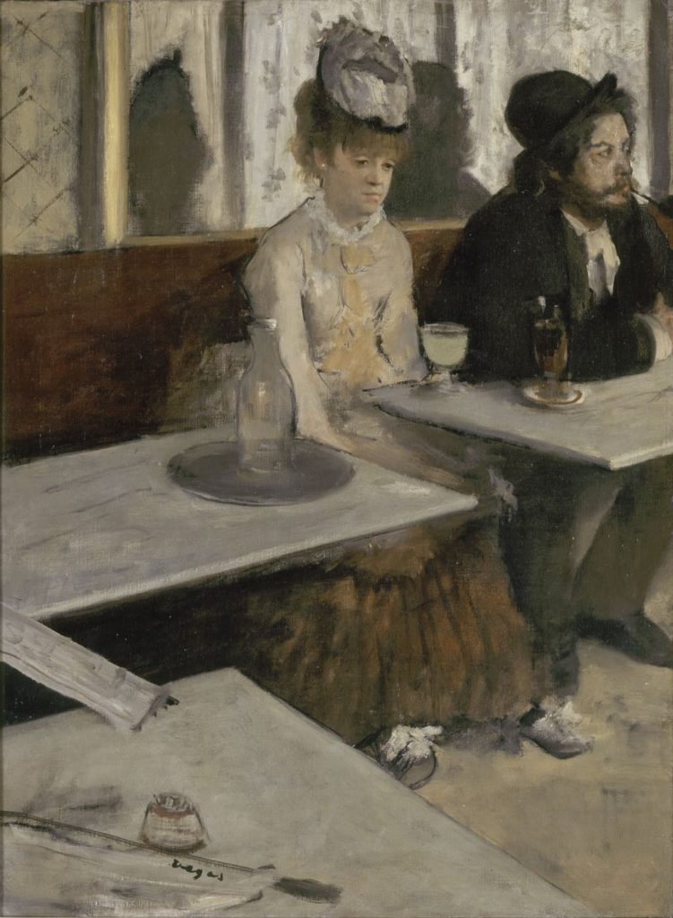 """""""L'Absinthe"""" (c. 1875-76), by Edgar Degas. Photo © RMN-Grand Palais (Musée d'Orsay)/Hervé Lewandowski"""
