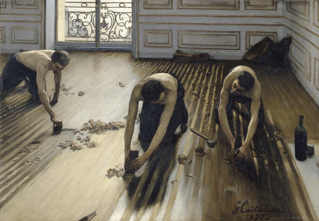 """The Floor Scrapers"" (1875), by Gustave Caillebotte. Photo © RMN-Grand Palais (Musée d'Orsay)/Hervé Lewandowski"
