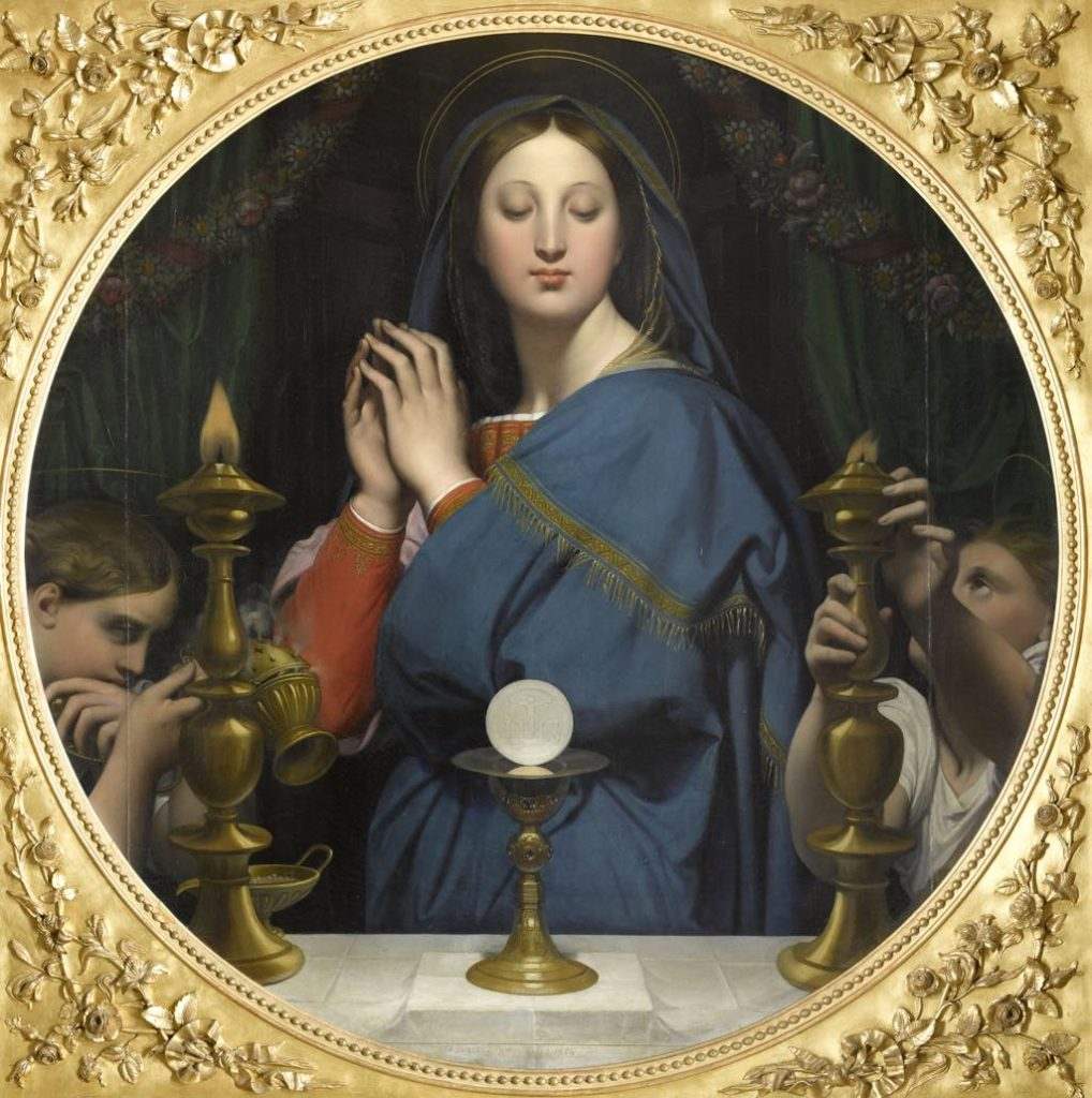 """""""The Virgin Adoring the Host"""" (1854), by Jean Auguste Dominique Ingres. Photo © RMN-Grand Palais (Musée d'Orsay)/Franck Raux"""