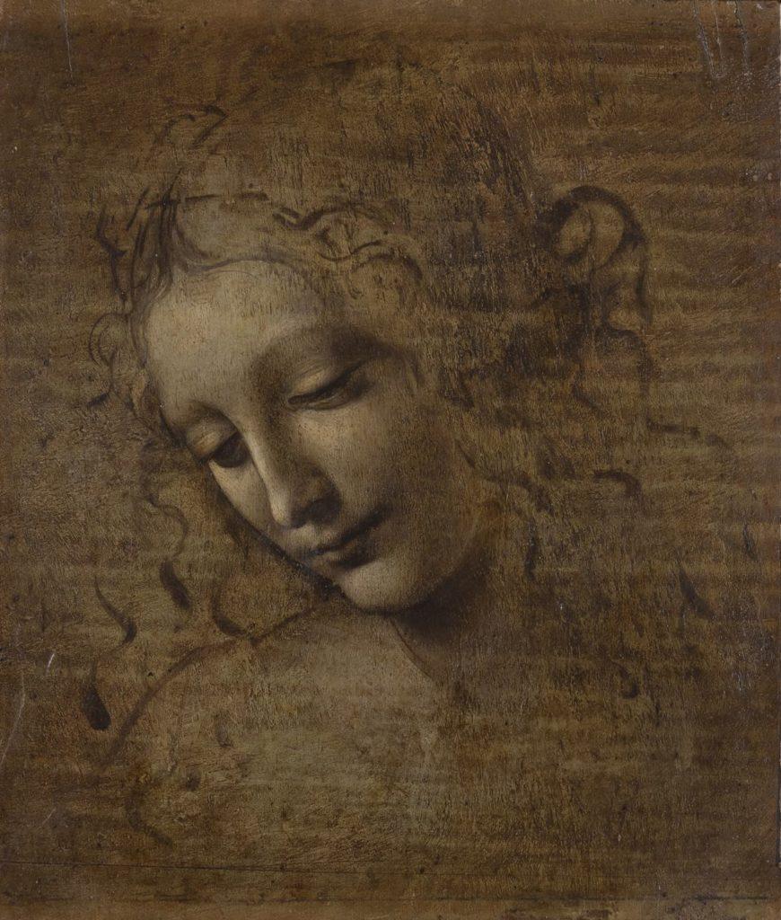 """""""Head of a Woman"""" or """"La Scapigliata"""" (c. 1501-10. © Licensed by the Ministero per i Beni e le Attività Aulturali - Complesso Monumentale della Pilotta- Galleria Nazionale di Parma"""