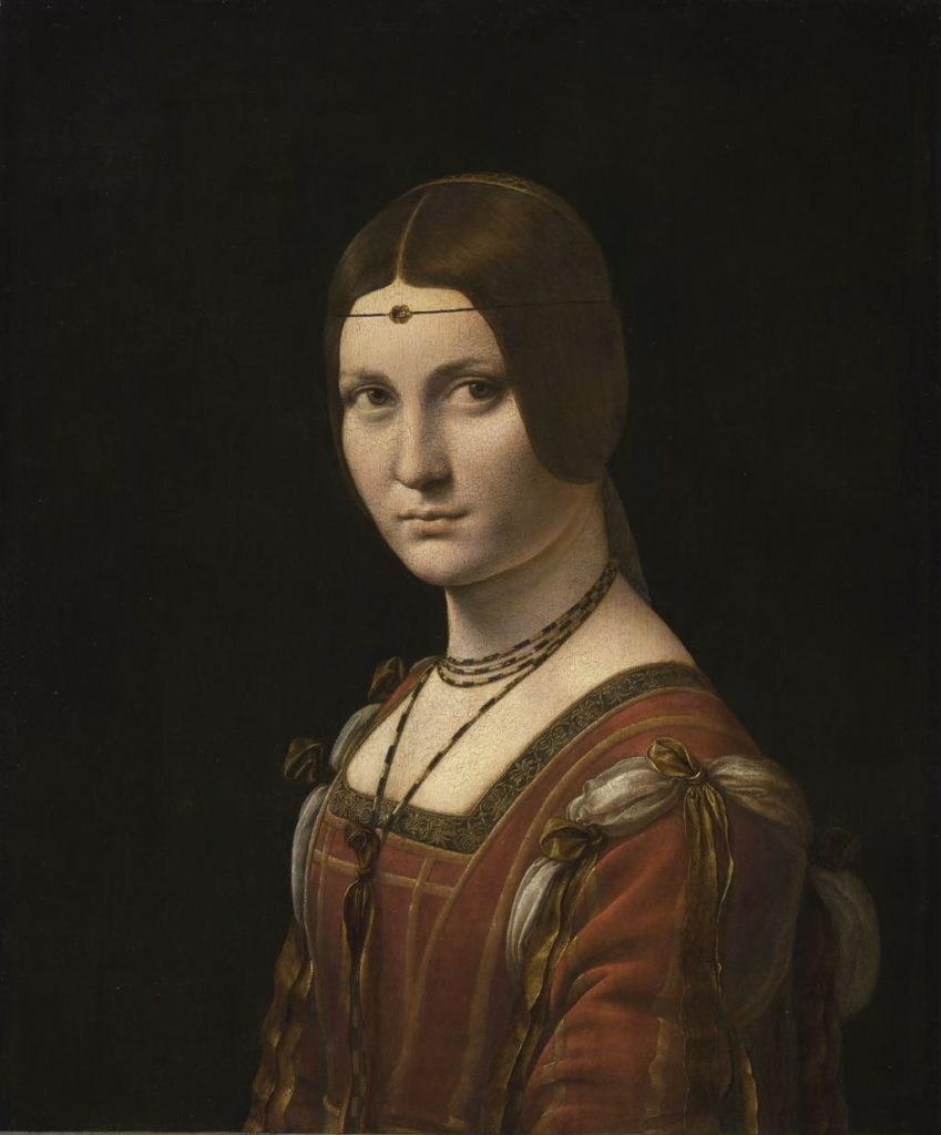 """Portrait of an Unknown Woman (La Belle Ferroniere, c. 1490-97). © RMN-Grand Palais (Musée du Louvre)/Michel Urtado."