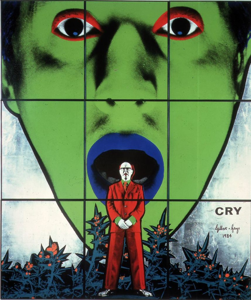 """Cry"" (1984), by Gilbert & George. © Courtesy of the artists © Collection Pinault"