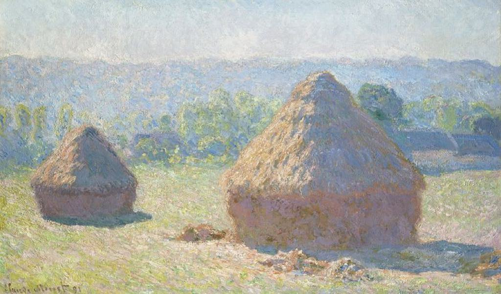 """""""Haystacks, End of Summer"""" (1891), by Claude Monet. Collection of the Musée d'Orsay, Paris. Wikimedia Commons."""