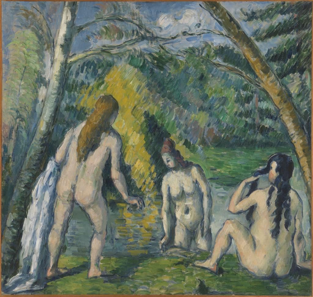 """""""Les Trois Baigneuses"""" (c. 1879-82), by Paul Cézanne (1839-1906). Musée des Beaux-Arts de la Ville de Paris, Petit Palais."""