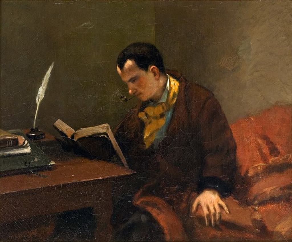 """Portrait of Charles Baudelaire"" (c. 1848), by Gustave Courbet."