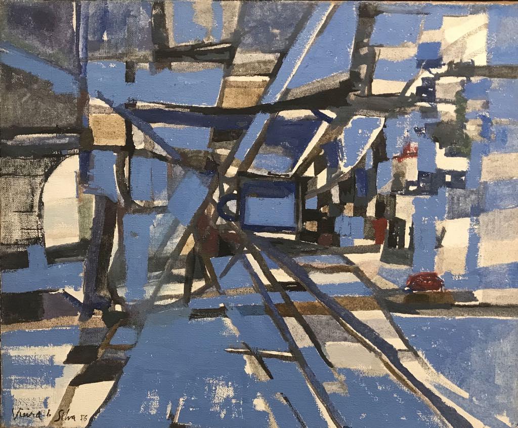 """Structure Dynamique"" (1956), by Maria Helena Vieira da Silva."