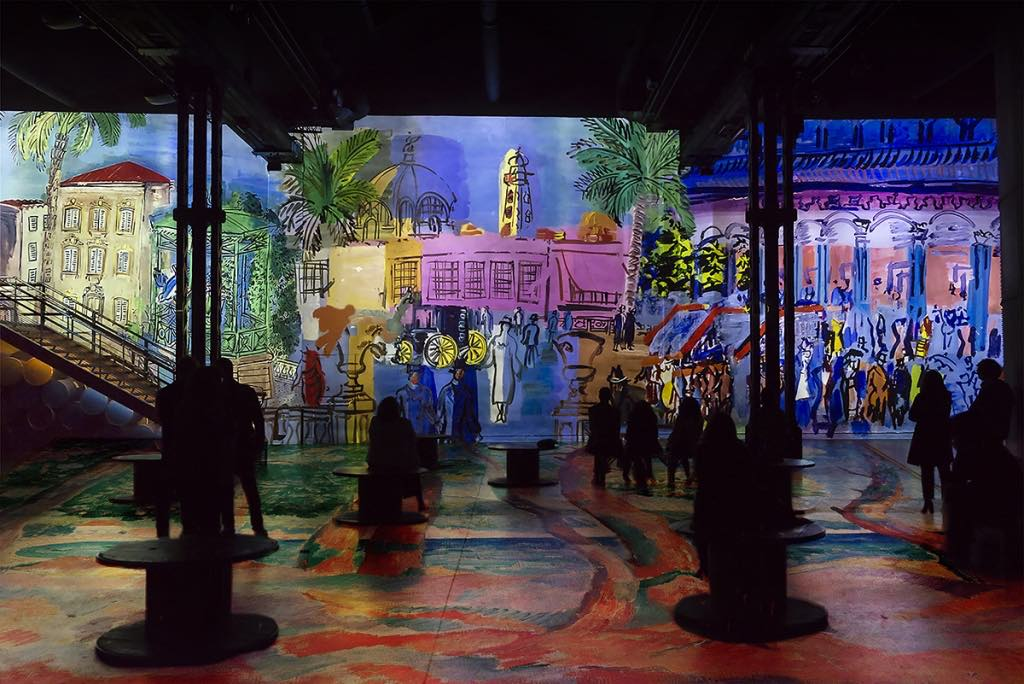 """Monet, Renoir... Chagall: Journeys around the Mediterranean"" at the Atelier des Lumières."