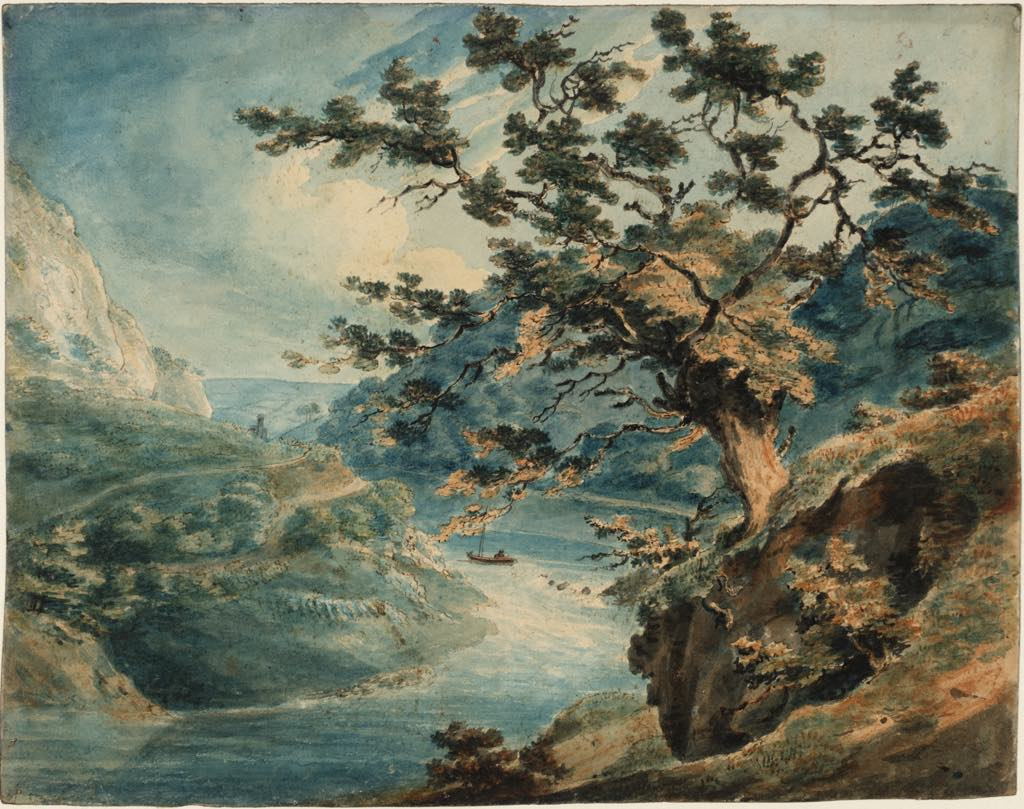 """View of the Avon Gorge"" (1791), by J.M.W. Turner. Photo © Tate"