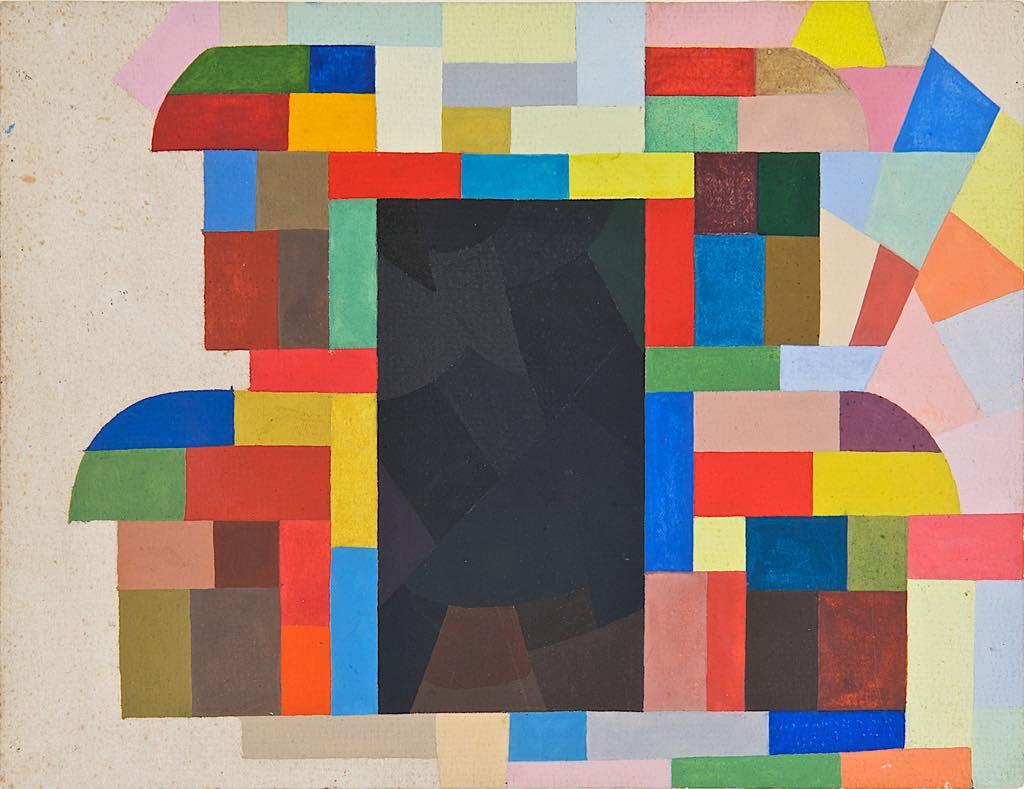 """""""Composition"""" (1940-43), by Otto Freundlich. Unfinished composition. Donation Freundlich, Musée de Pontoise"""