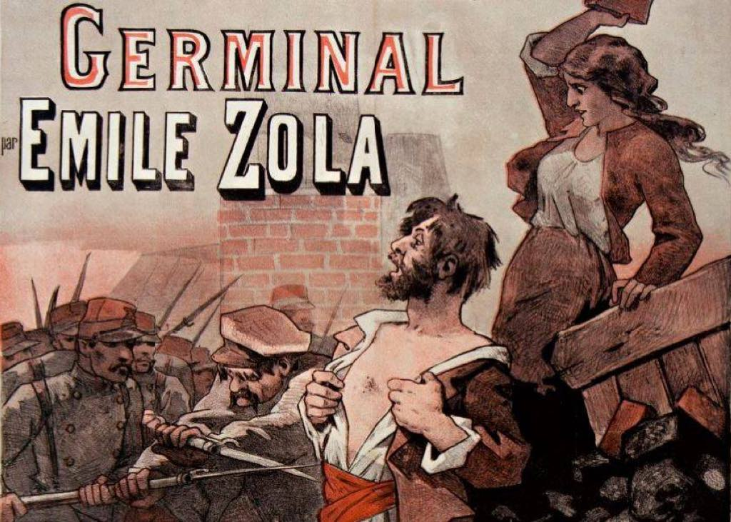 An ad for Germinal, which was serialized in the literary periodical Gil Blas, 1884. Photo: Gallica-BnF