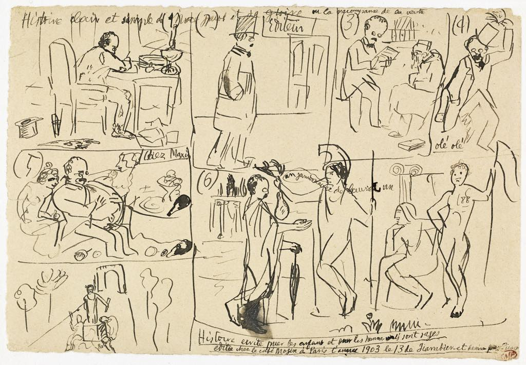 "Pablo Picasso: ""Histoire Claire et Simple de Max Jacob (January 13, 1903). Photo © RMN-Grand Palais(Musée National Picasso-Paris)/Mathieu Rabeau © Succession Picasso 2020"
