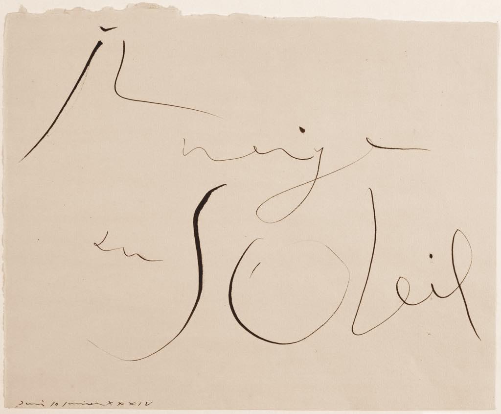 """Pablo Picasso: """"Il Neige au Soleil"""" (January 10, 1934) Photo © RMN-Grand Palais (Musée National Picasso-Paris)/Daniel Arnaudet © Succession Picasso 2020"""